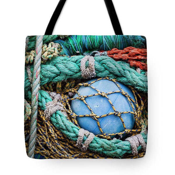 Fishing Nets And Blue Float 7904 Tote Bag