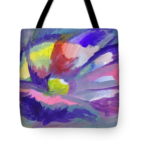 Tote Bag featuring the painting Flowering Abstract 3 by Dobrotsvet Art