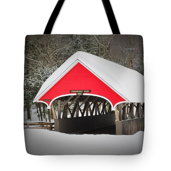 Flume Covered Bridge  Tote Bag