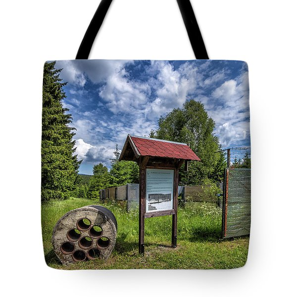 Tote Bag featuring the photograph Former German Border by Bernd Laeschke