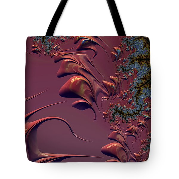 Fractal Playground In Pink Tote Bag