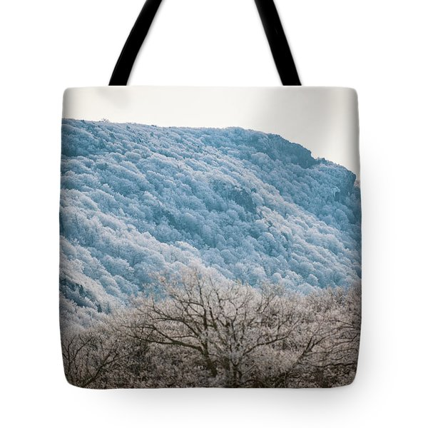 Frost On The Mountain Tote Bag