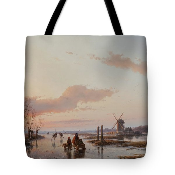 Frozen Waterway Tote Bag