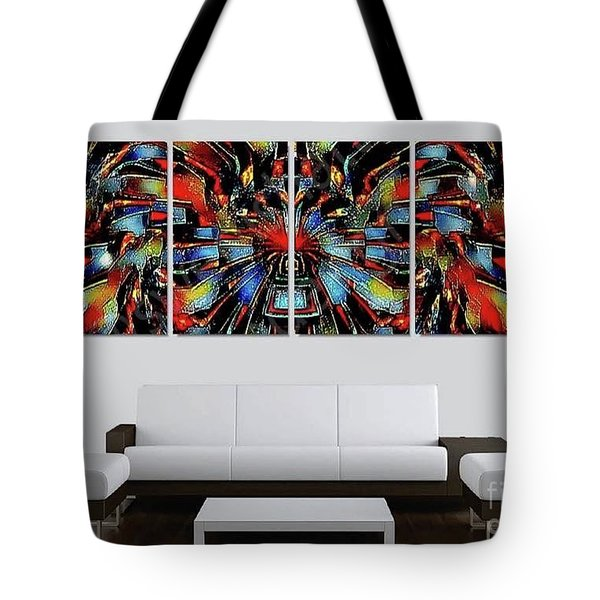 Funny Abstract Overlay Tote Bag