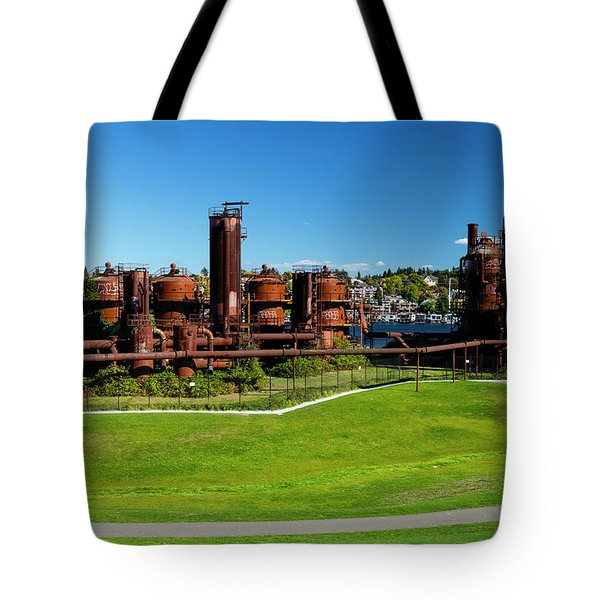 Gas Works Park On Sunny Day, Seattle Tote Bag