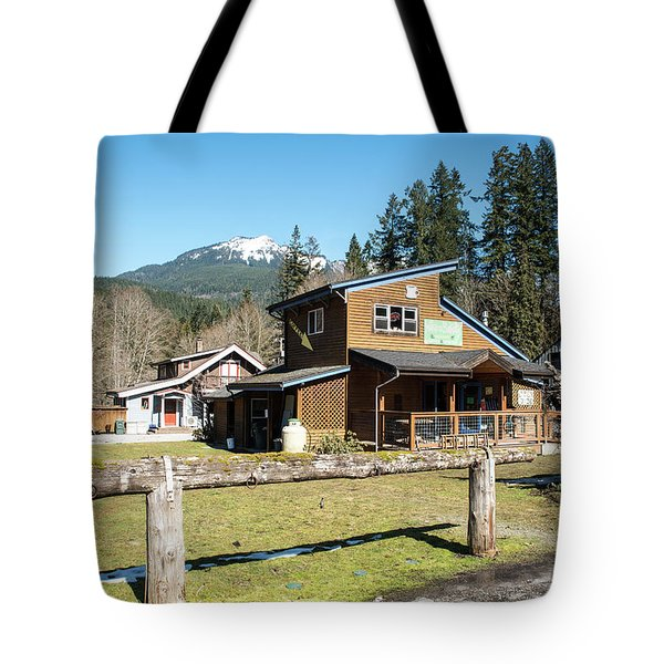 Glacier Coffee Shop Tote Bag