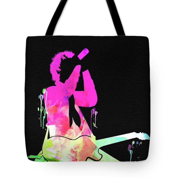 Green Day Watercolor Tote Bag