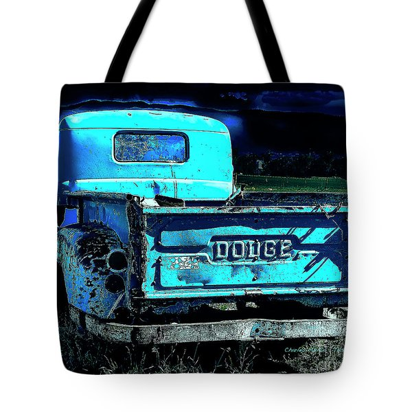 Green Dodge Tote Bag