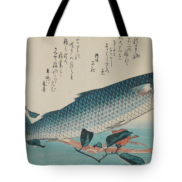 Grey Mullet, Camellia And Udo, 19th Century Tote Bag