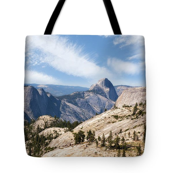 Tote Bag featuring the photograph Half Dome by Sharon Seaward