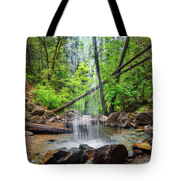 Tote Bag featuring the photograph Hedge Creek Falls by Leland D Howard