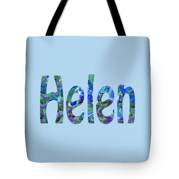 Tote Bag featuring the digital art Helen 2 by Corinne Carroll