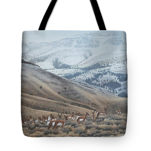 High Country Pronghorn Tote Bag