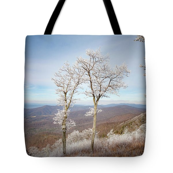 Hoarfrost Gathers Tote Bag