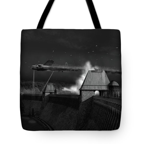 Tote Bag featuring the photograph Hopgood's Last Run Black And White Version by Gary Eason