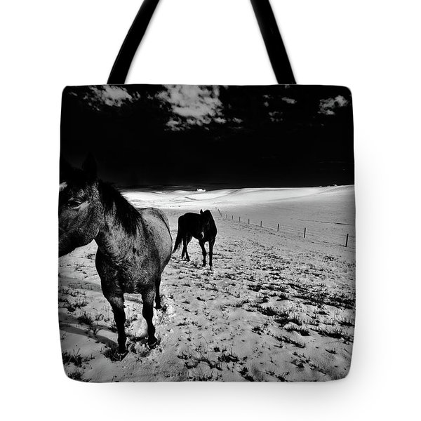 Tote Bag featuring the photograph Horses On The Palouse by David Patterson