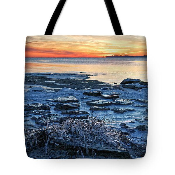 Icing Up On Erie Tote Bag