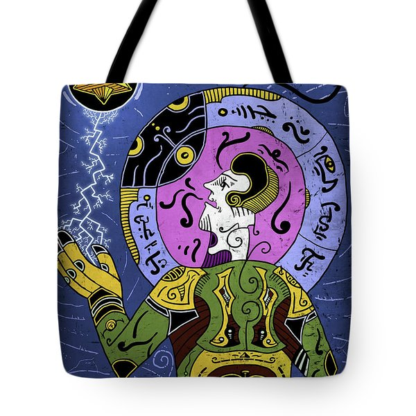 Tote Bag featuring the digital art Incal by Sotuland Art