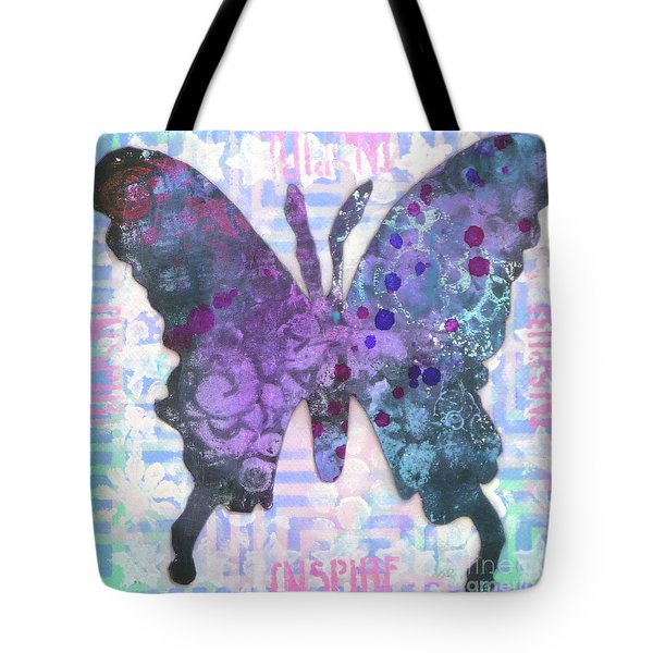 Inspire Butterfly Tote Bag