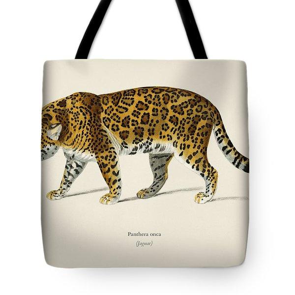 Jaguar  Panthera Onca  Illustrated By Charles Dessalines D  Orbigny  1806 1876  Tote Bag