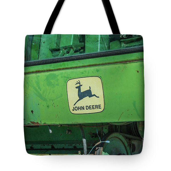 Tote Bag featuring the photograph John Deere by Tony Baca