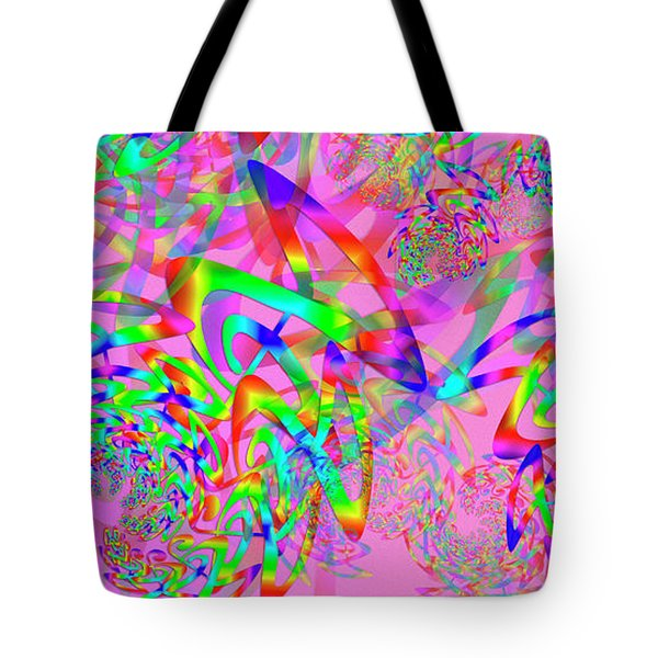 Tote Bag featuring the digital art Key Remix by Vitaly Mishurovsky