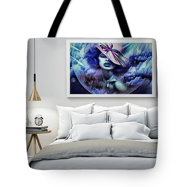 Lady Moon Light Tote Bag