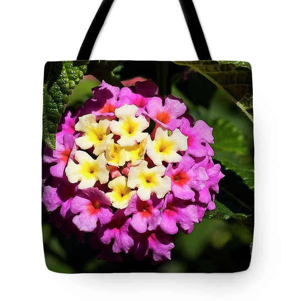 Tote Bag featuring the photograph Lantana by Michael D Miller