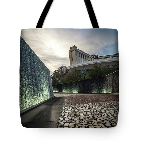Tote Bag featuring the photograph Las Vegas Nevada City Scenery On Sunny Day by Alex Grichenko