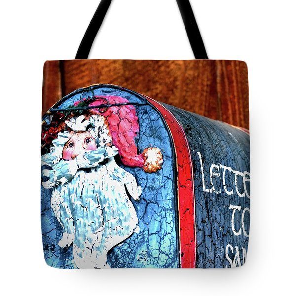 Tote Bag featuring the photograph Letters To Santa 20537 by Jerry Sodorff