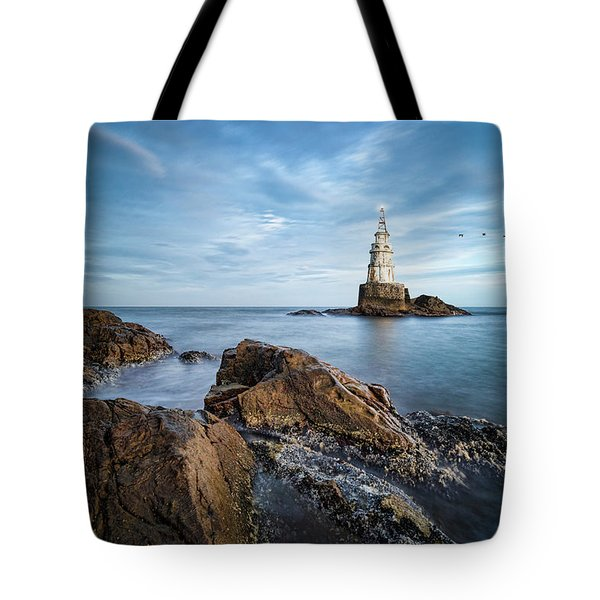 Lighthouse In Ahtopol, Bulgaria Tote Bag