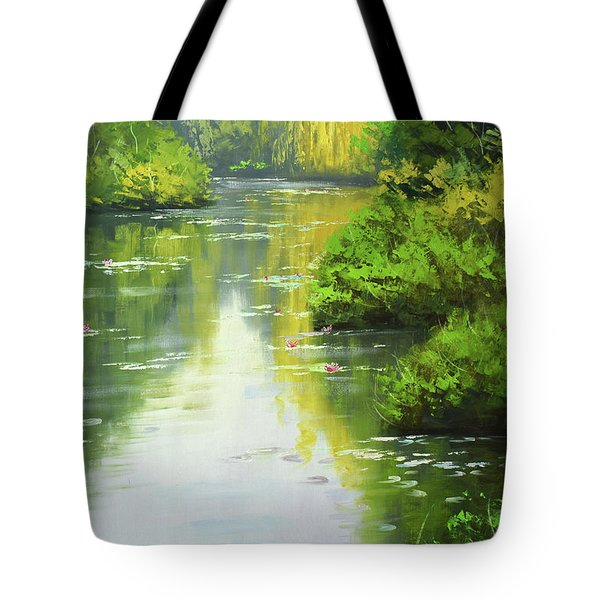 lily Pond reflections Tote Bag