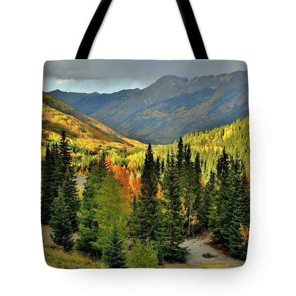 Looking North From Red Mountain Pass Tote Bag