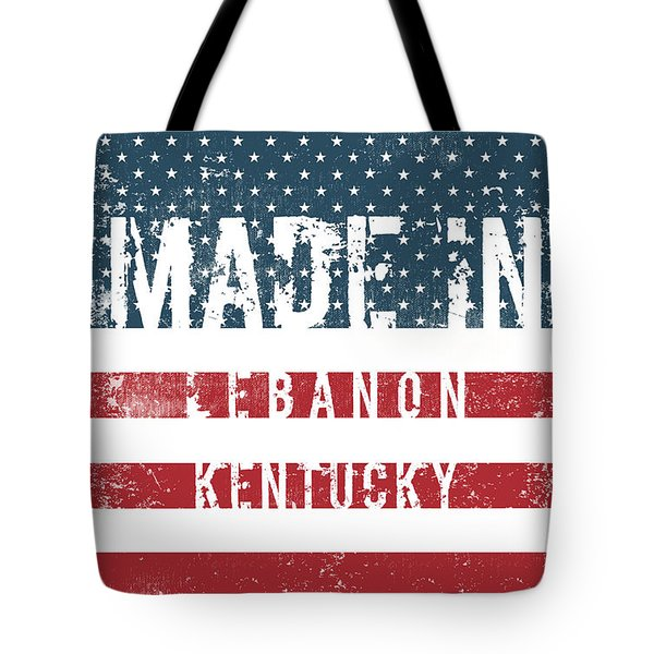 Made In Lebanon, Kentucky Tote Bag