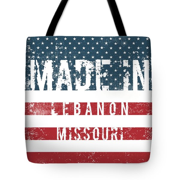 Made In Lebanon, Missouri Tote Bag