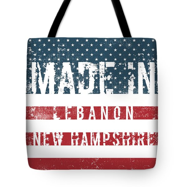 Made In Lebanon, New Hampshire Tote Bag