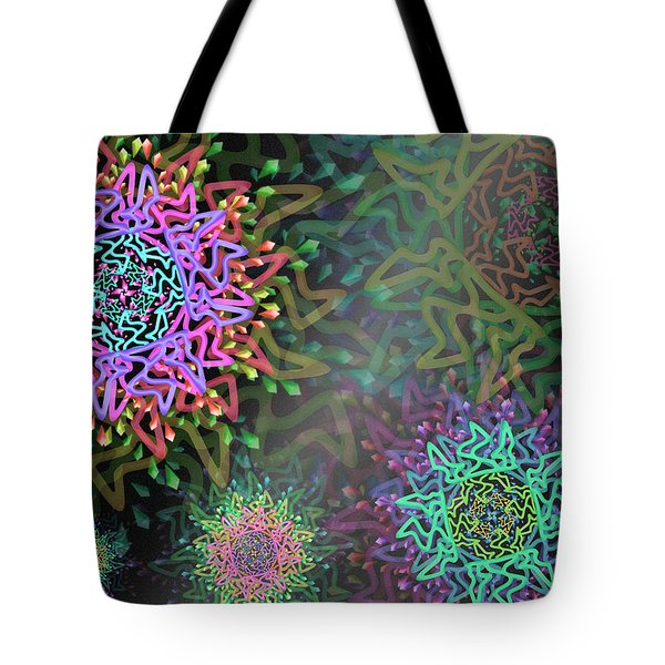 Tote Bag featuring the digital art Magic Remix One by Vitaly Mishurovsky