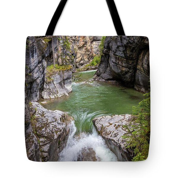 Tote Bag featuring the photograph Maligne Canyon by Paul Schultz