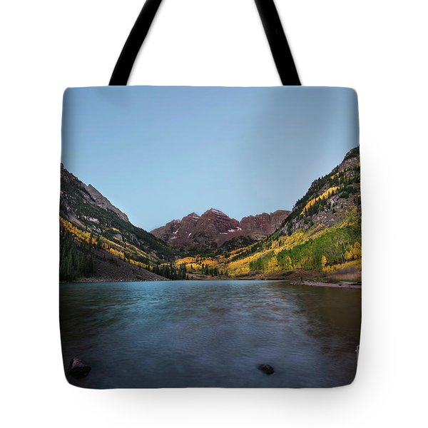 Tote Bag featuring the photograph Maroon Bells by Joe Sparks