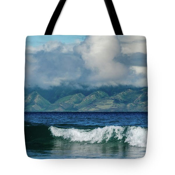 Tote Bag featuring the photograph Maui Breakers by Jeff Phillippi