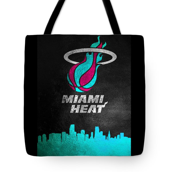Miami Heat Vice Skyline Tote Bag