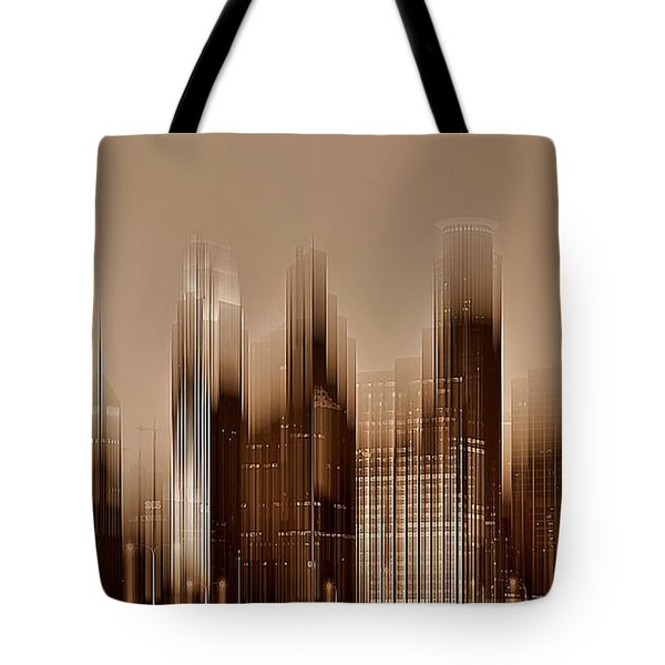 Tote Bag featuring the digital art Minneapolis 2 by David Manlove