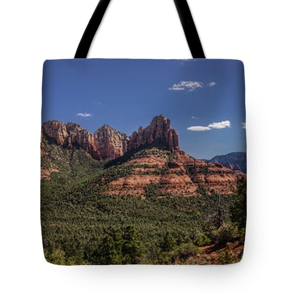 Tote Bag featuring the photograph Mormon Canyon Panorama by Andy Konieczny