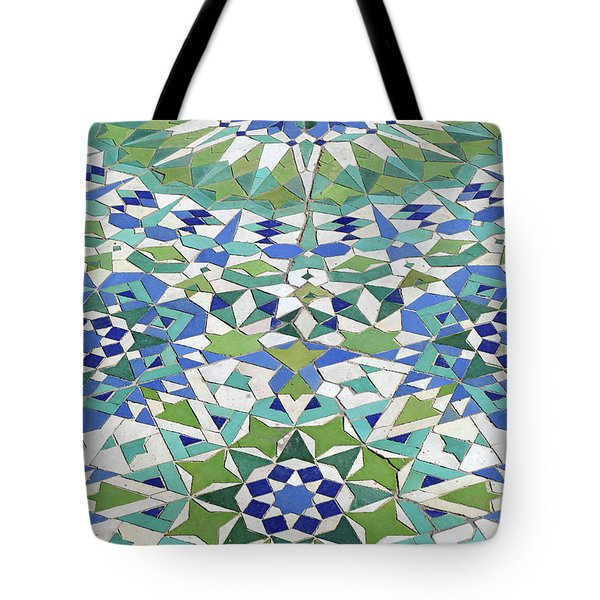 Mosaic Exterior Decorations Of The Hassan II Mosque Tote Bag