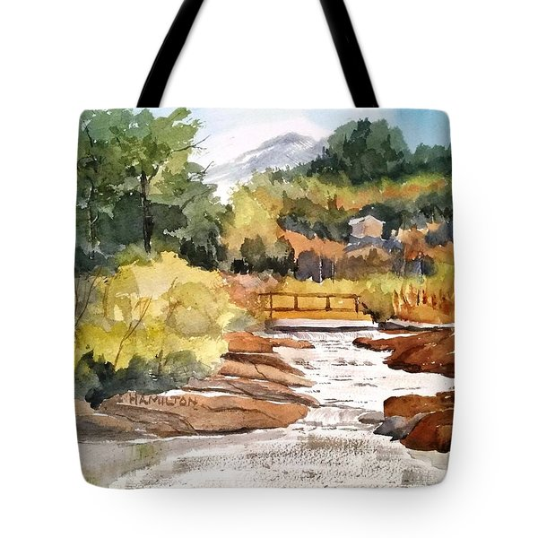 Mountain Run Off Tote Bag