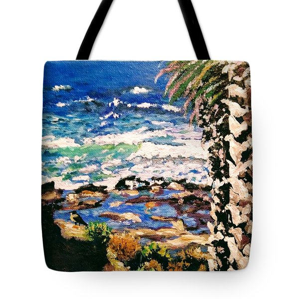 Tote Bag featuring the painting My Bird by Ray Khalife