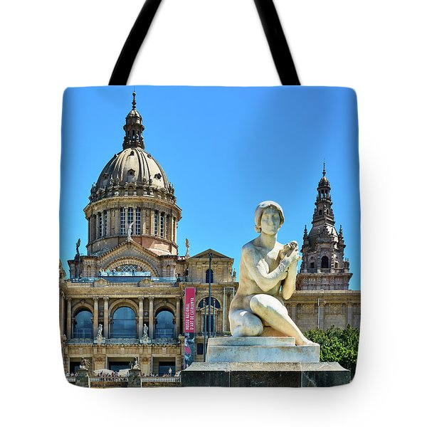 Tote Bag featuring the photograph National Art Museum In Barcelona by Eduardo Jose Accorinti