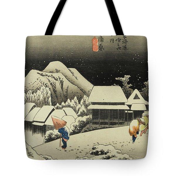 Night Snow, Kambara Tote Bag