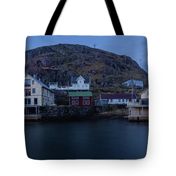 Norwegian Seaside Town Nyksund Tote Bag