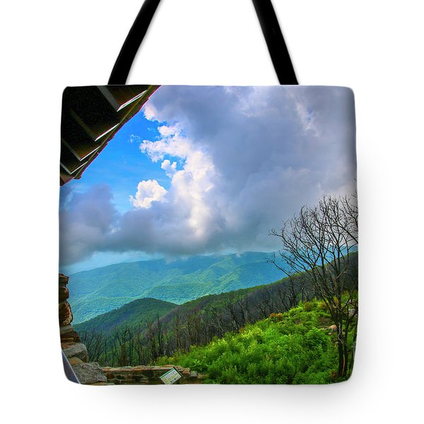 Tote Bag featuring the photograph Observation Tower View by Tom Claud